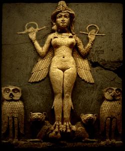 Lilith in rilievo sumero del 1700 a.c. circa