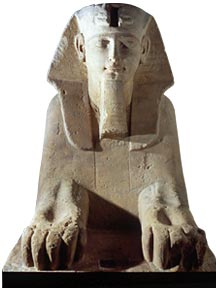 Sfinge proveniente da Karnak e risalente al Nuovo regno, conservata al Museo Egizio di Torino.