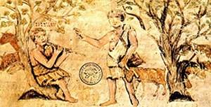 Virgilio Romano: prima ecloga: Titiro e Melibeo.