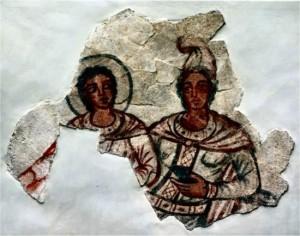 Sol Invictus e Mitra. Affresco nel mitreo di Dura-Europos.