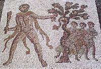 Eracle prende i pomi delle Esperidi (mosaico romano del III secolo).