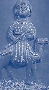 La dea Al-Lat in un rilievo risalente al 100 circa.