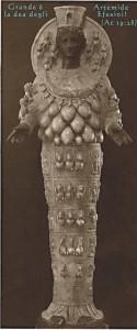 Artemide di Efeso con il nimbo.
