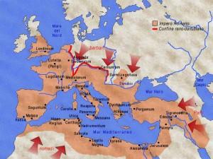 Le pressioni esterne sull'Impero Romano.