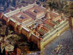 Ricostruzione del grandioso palazzo di Diocleziano a Spalato.