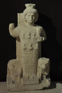 Statua di Juppiter Heliopolitanus proveniente da Palmyra.