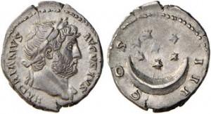 Denario d'argento di Adriano.