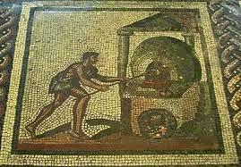 Mosaico che rappresenta un forno romano.
