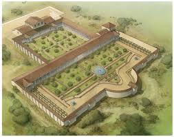 Ricostruzione di villa romana, sede di un azienda agricola.