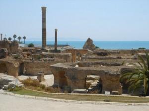 Veduta delle rovine di Cartagine.