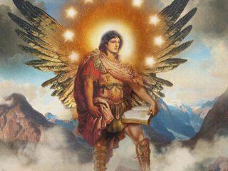 Immagine moderna dell'arcangelo Uriel (uno degli arcangeli non canonici).