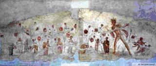 I Campi Elisi raffigurati nell'Ipogeo degli Ottavi a Roma.