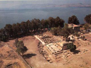 Ruderi della sinagoga di Cafarnao in Galilea.